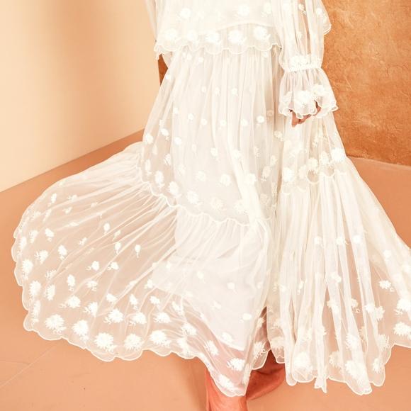 3d7ee8981 Ulla Johnson Skirts   Coachella Maxi Long Boho Floral Skirt   Poshmark